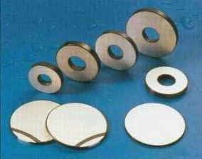 Some of the range of annular and circular piezoceramic disks SPZT 4