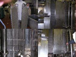 Examples of ultrasonics used in heat exchangers to continuously clean the pipes and permit longer service intervals.