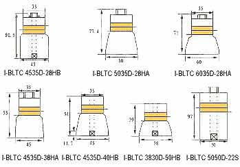 Shapes of I-BLTC bolt clamped langevin transducers for general purpose ultrasonic cleaning applications