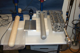 Photo - video gallery of ultrasonic metallurgy tools and applications.