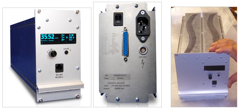 SONOWELD GENERATORs - ULTRASONIC GENERATORS FOR INDUSTRIAL APPLICATIONS - PLUG-and-PLAY ULTRASONIC POWER SUPPLIES - Fixed frequency-tracking generators (2kW and 4kW)